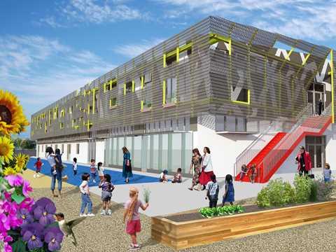 Zero net energy school building