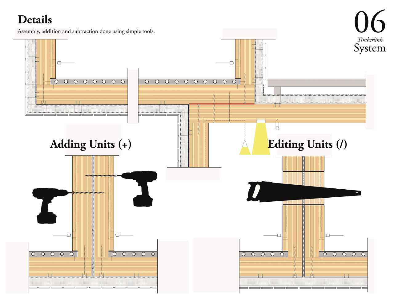 Timber link interlocking panelized timber building system for Panelized building systems