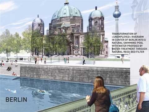 Urban renewal and swimming-pool precinct