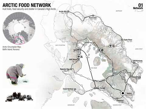 Project entry 2011 North America – Regional food-gathering nodes and logistics network, Iqaluit, …