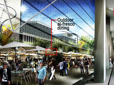 "Project entry 2011 ""Ecologically-designed retail and commercial building, Putrajaya, …"