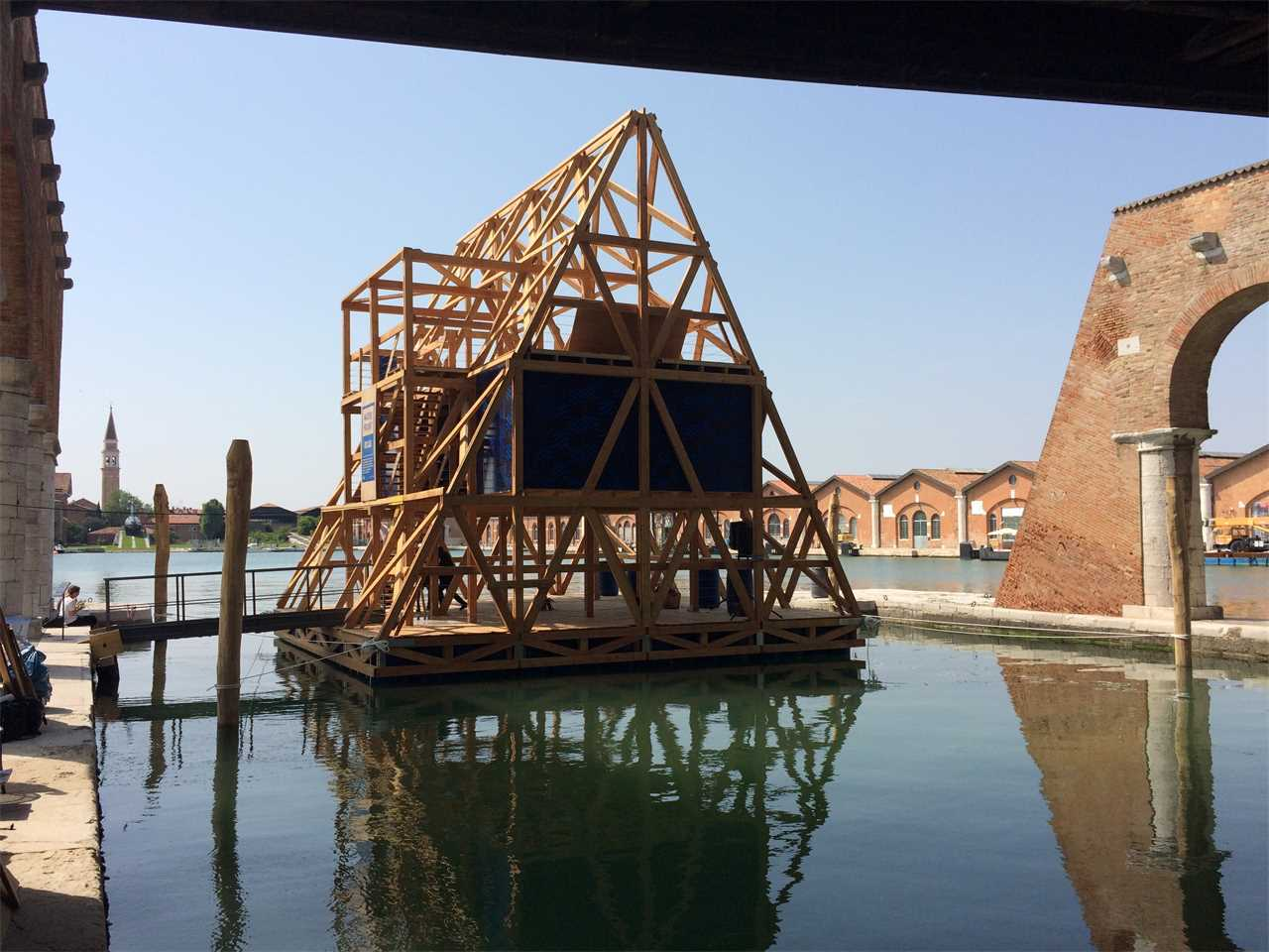 Makoko Floating School at 15th International Architecture Exhibition