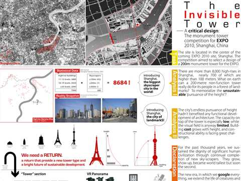 The Invisible Tower: a critical design - the monument tower competition for EXPO 2010 Shanghai