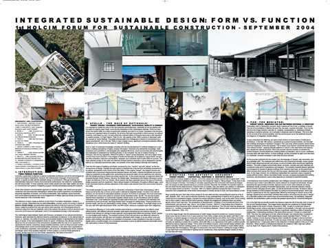 Integrated sustainable design: form vs. function