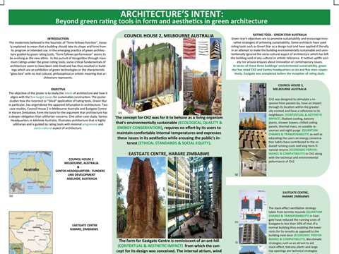 Architecture's intent: beyond green rating tools in form and aesthetics in green architecture