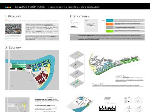 Sewage Farm Park - public space via industrial area renovation