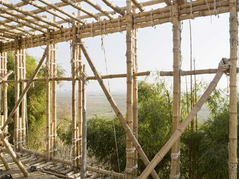 Project update April 2014 – Locally-manufactured cob and bamboo school building, Jar Maulwi, …