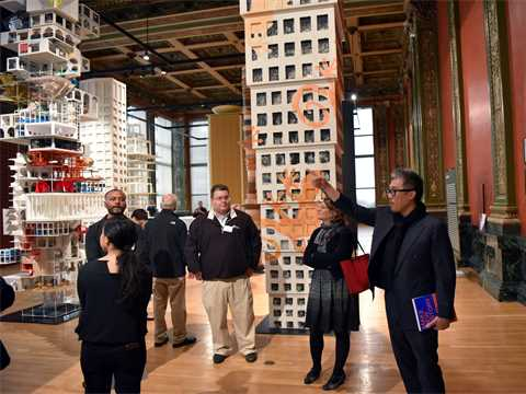 Awards guests visit Chicago Architectural Biennial