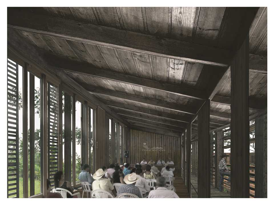 Project entry 2014 Latin America – Arboreal Platform: Low-impact timber rainforest center, Puerto …