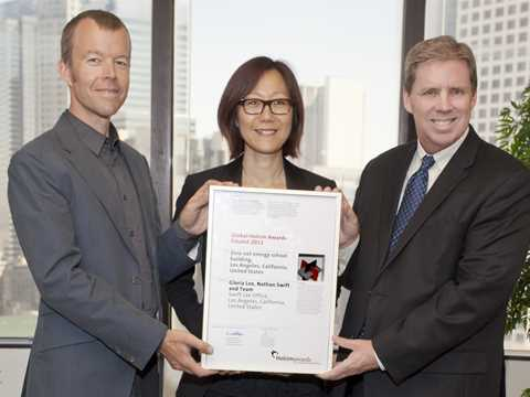 Global Holcim Awards finalist 2012 certificate handover in Los Angeles, USA