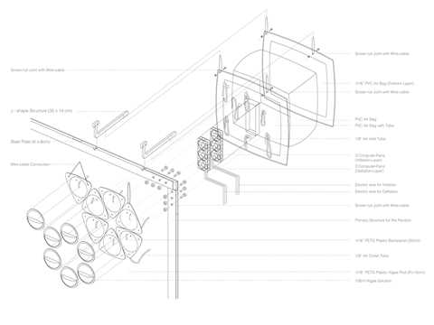 Project entry 2014 North America – Pleura Pod: Air purification wall transforming carbon dioxide …