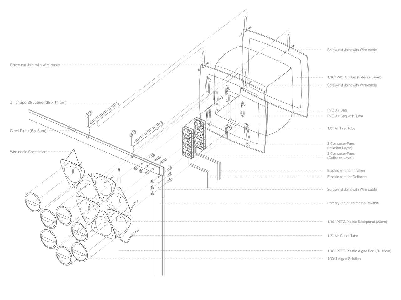 Project entry 2014 North America – Pleura Pod: Air purification wall transforming carbon …