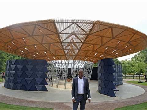 LafargeHolcim Awards winner Francis Kéré opens summer pavilion in London's Hyde Park.