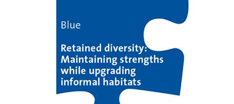 Blue Workshop: Retained diversity - Maintaining strengths while upgrading informal habitats