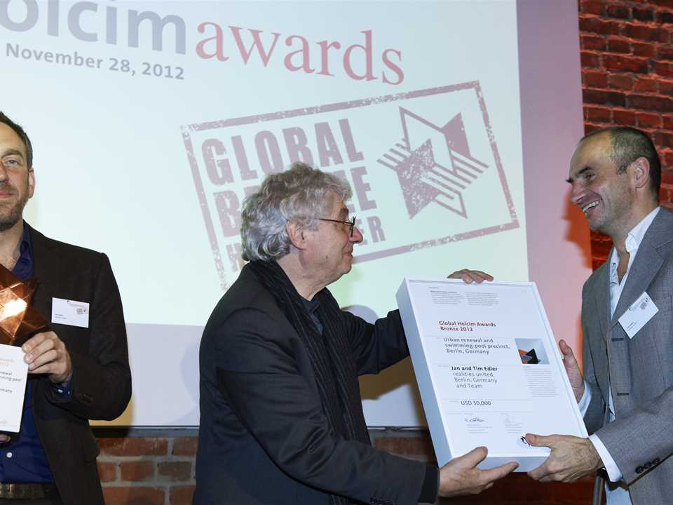 Global Holcim Awards Bronze 2012 handover – Berlin, Germany