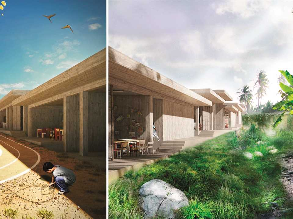 Project entry 2014 Latin America – Indoor – Outdoor: Site-responsive school, Jacmel, Haiti