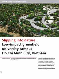 """Slipping into nature"" in Second Holcim Awards for Sustainable Construction 2008/2009"