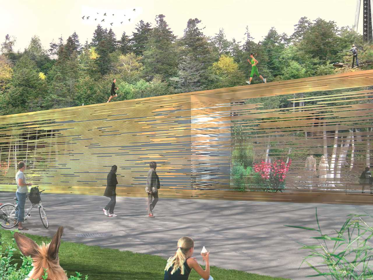 Project entry 2014 North America – In-Closure: Public park and interactive wall for urban …