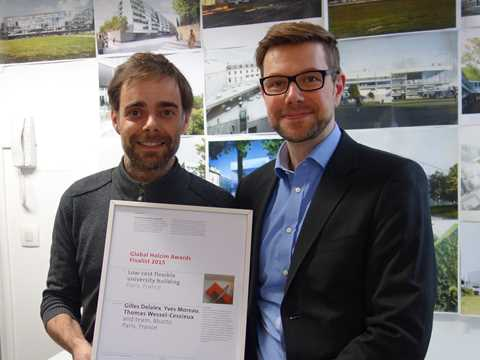 "Global Awards finalist 2015 certificate handover for ""Public Condenser"""