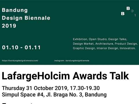 LafargeHolcim Awards Talk in Bandung, Indonesia