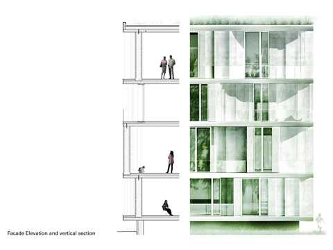 "Project entry 2011 ""Low-cost apartments incorporating smart materials"", Hamburg, Germany: …"