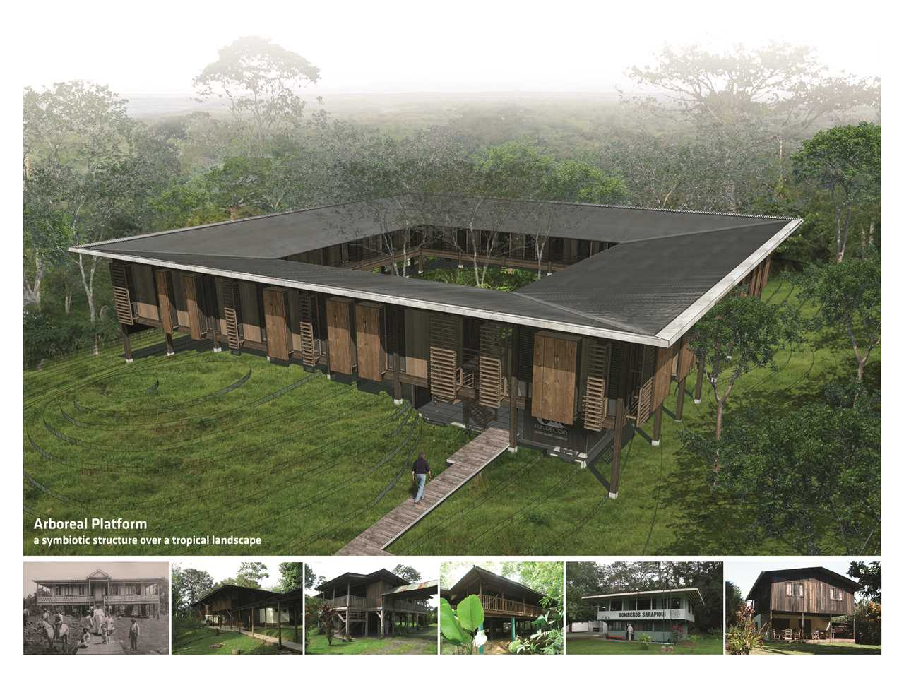 Holcim Awards Silver 2014 Latin America – Arboreal Platform: Low-impact timber rainforest center, …