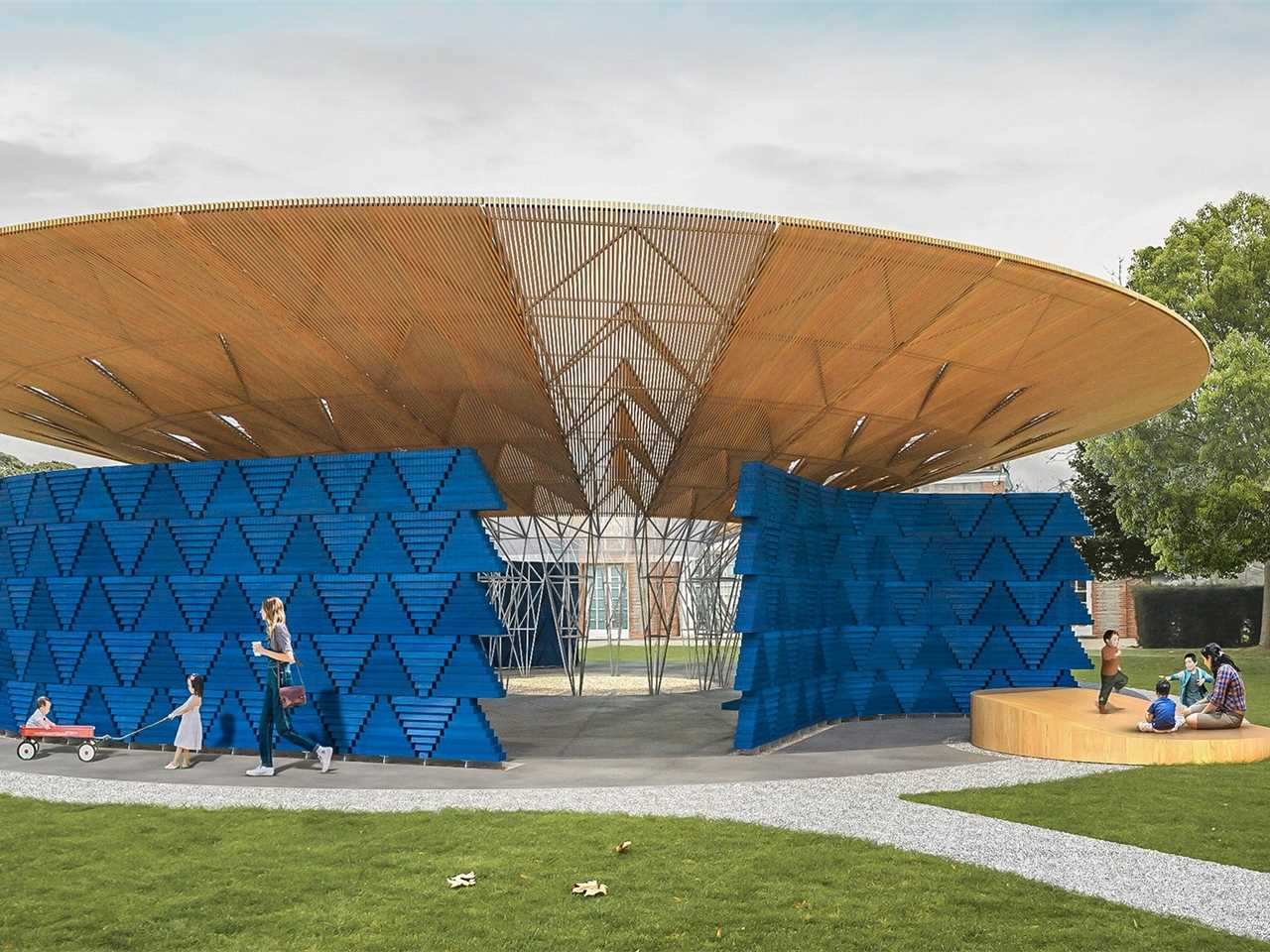 Serpentine Pavilion 2017 designed by Francis Kéré