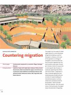 """Countering migration"" in First Holcim Awards for Sustainable Construction 2005/2006"