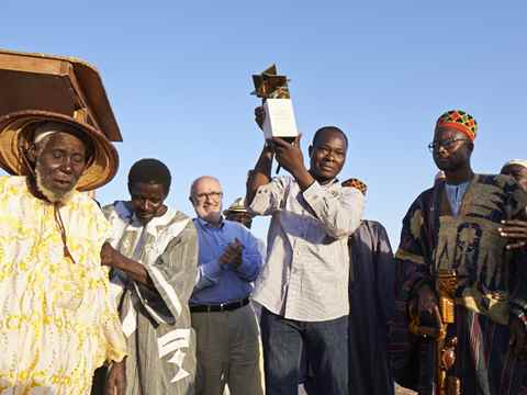 Global Gold prize winner Diébédo Francis Kéré celebrated in his home village