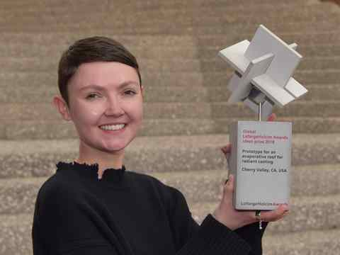 "Global LafargeHolcim Awards Ideas prize handover – ""Cooling Roof"" by Georgina Baronian"