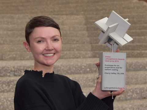 "Global LafargeHolcim Awards Ideas prize for ""Cooling Roof"" presented to Georgina Baronian"