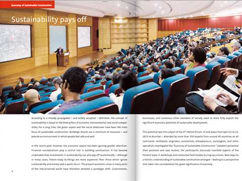 "Sustainability pays off: report on Holcim Forum on ""Economy of Sustainable Construction"""