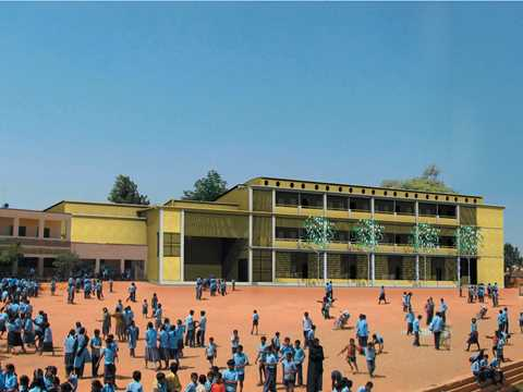 Low-cost low-maintenance school extension