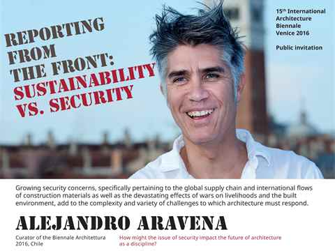 Reporting from the Front: Sustainability vs. Security - the panel will discuss how growing …
