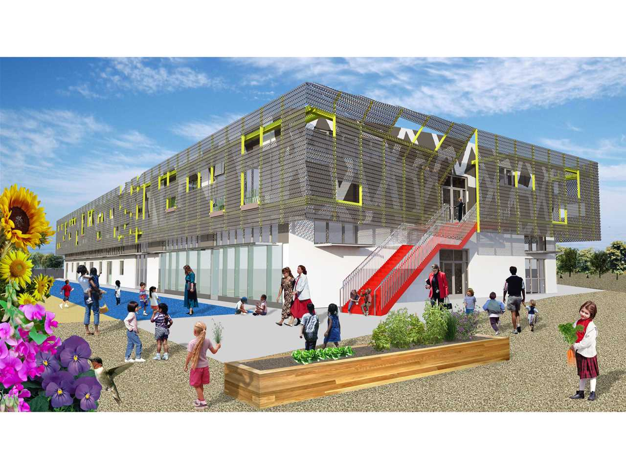 Holcim Awards Silver 2011 North America: Zero net energy school building, Los Angeles, CA, USA