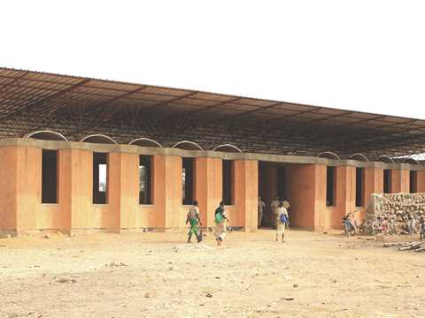 Secondary school with passive ventilation system in Burkina Faso