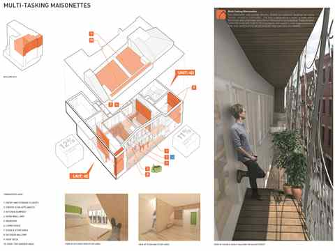 Project entry 2014 North America – Chrysanthemum Building: Affordable residential urban …