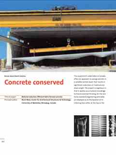 """Concrete conserved"" in First Holcim Awards for Sustainable Construction 2005/2006"