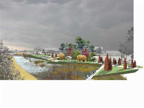 Project entry 2005 - Urban Greenway: Riparian Meadows, Mounds and Rooms, Warren, Arkansas, …