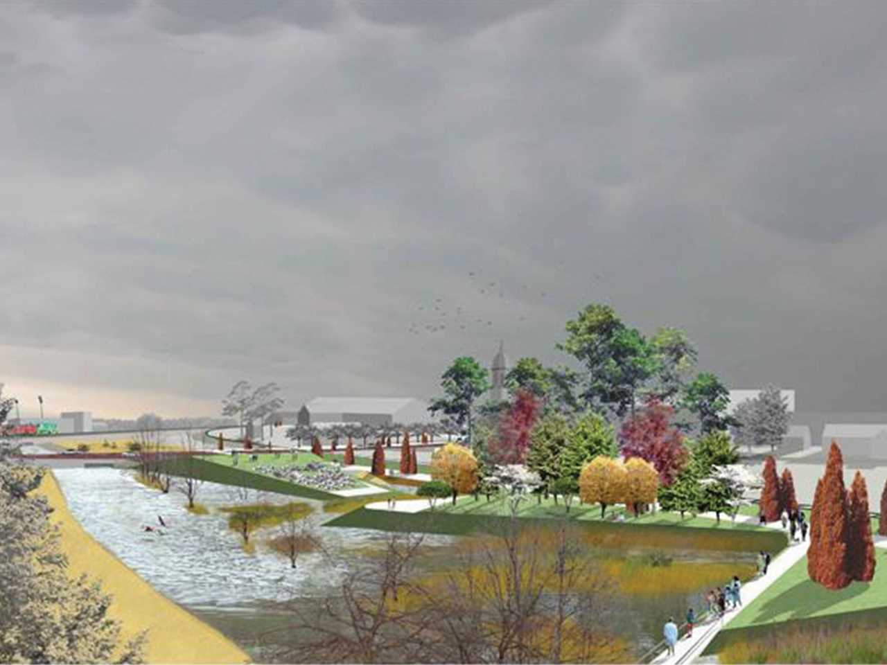Holcim Awards Acknowledgement prize 2005 North America: Urban Greenway: Riparian Meadows, Mounds …