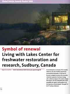 """Symbol of renewal"" in Second Holcim Awards for Sustainable Construction 2008/2009"