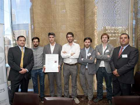 Global Holcim Awards finalist 2012 certificate handover in Santiago, Chile
