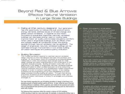"""Beyond red and blue arrows: effective natural ventilation in large scale buildings"