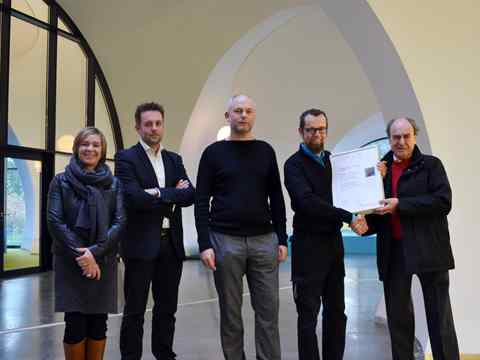 Global Holcim Awards finalist certificate handover – City hall and civic center recycled from …