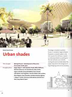"""Urban Shades"" in First Holcim Awards for Sustainable Construction 2005/2006"