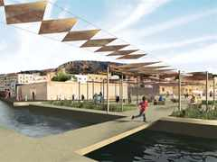 River remediation and urban development scheme, Fez, Morocco