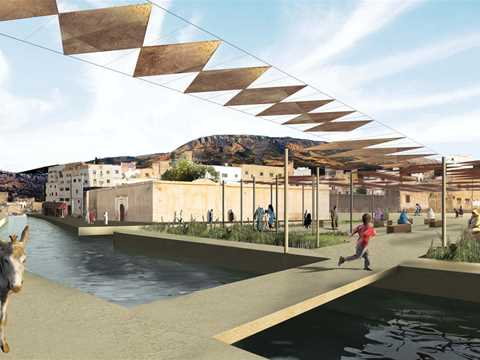 Global Holcim Awards finalist entry 2009 – River remediation and urban development scheme, Fez, …