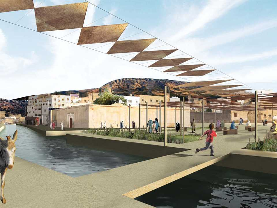 Global Holcim Awards Gold 2009: River remediation and urban development scheme, Fez, Morocco