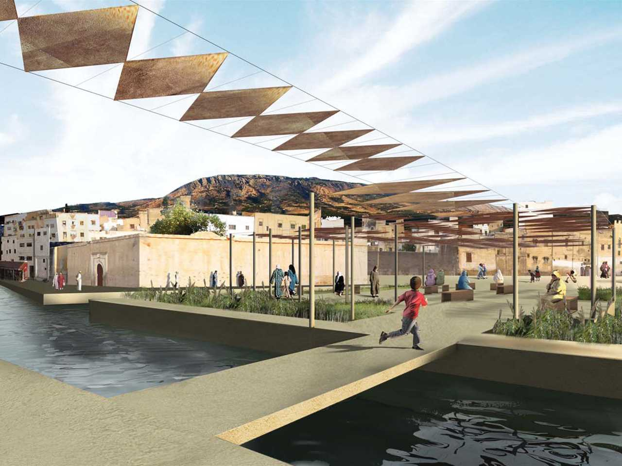 Holcim Awards Gold 2008 Africa Middle East: River remediation and urban development scheme, Fez, …