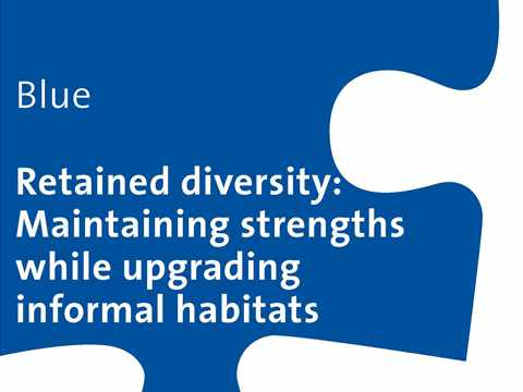 Retained diversity - Maintaining strengths while upgrading informal habitats